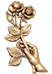 Hand & Rose Wall Bronze Statues