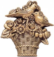 Basket Wall Bronze Statues
