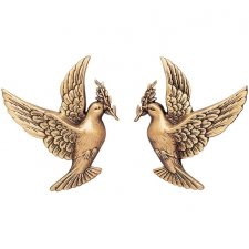Flying Doves Wall Bronze Statues