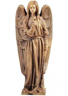 Angel Del Silencio Wall Bronze Statues