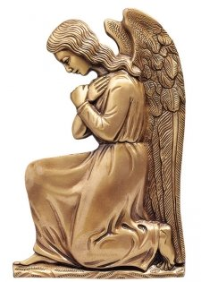 Kneeing Angel in Prayer Wall Bronze Statues