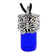 Butterfly Blue Urn Necklace