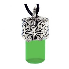 Butterfly Green Urn Necklace