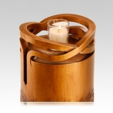 Infinity Wood Navy Cremation Urn