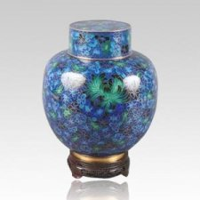 Great Wall Blue & Green Child Cremation Urn