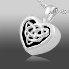 Celtic Heart Cremation Jewelry