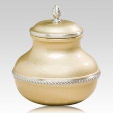 Gold Pastel Pet Cremation Urn
