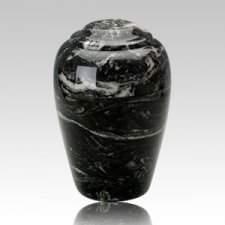 Grecian Ebony Marble Cremation Urn