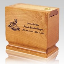 Child Wood Scattering Cremation Urn II