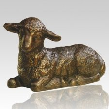Resting Lamb Infant Cremation Urn