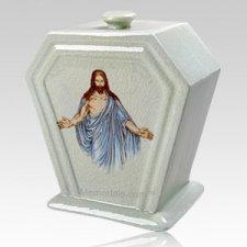 Jesus Porcelain Cremation Urn