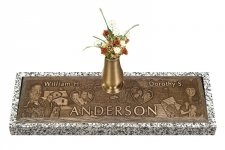 Expression Bronze Grave Marker For Two