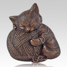 Copper Cat Cremation Urn