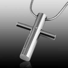 Elegant Cross Cremation Jewelry