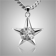 Five Point Star Keepsake Pendant