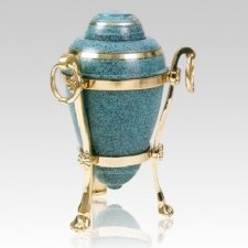 Patina Urn with Stand Cremation Urns