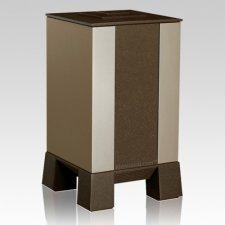 Gold & Brown Modern Cremation Urn