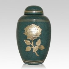 Green Rose Cremation Urn