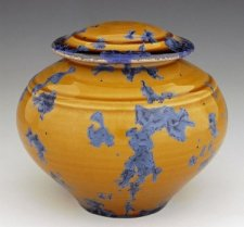 Orange Dream Pet Porcelain Cremation Urn