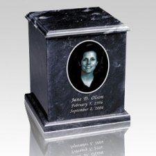 Marble Photo Cremation Urn