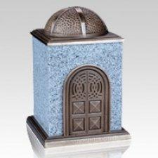 Bronze & Granite White Cremation Urn