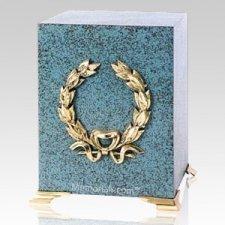 Patina Wreath Cube Cremation Urns