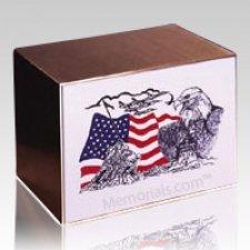 Eagle and Flag Cremation Urn
