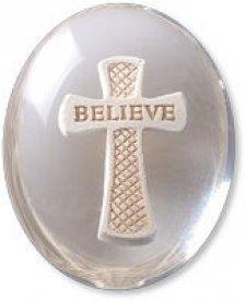 Believe Cross Comfort Stone Keepsakes