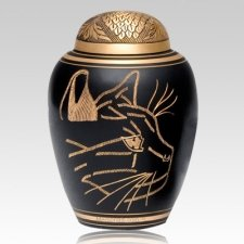 Curious Cat Cremation Urn II