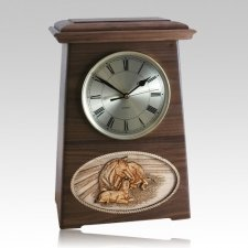 Daddys Love Astoria Clock Walnut Cremation Urn