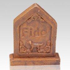 Doggy Ceramic Grave Stone