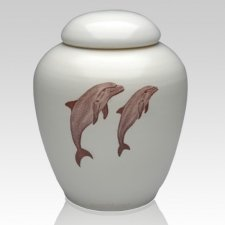 Peaceful Dolphins Companion Cremation Urn