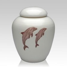 Peaceful Dolphins Cremation Urn