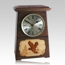Eagle Astoria Clock Walnut Cremation Urn