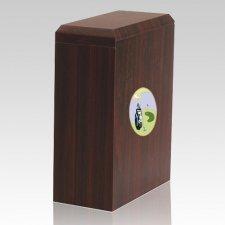 Scottish Golf Cremation Urn