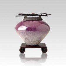 Raku Purple Small Cremation Urn