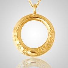 Paw Eternity Ring Cremation Pendant II