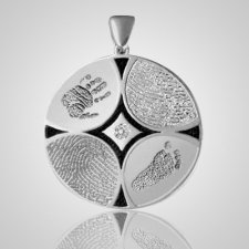 Family 4 Print 14k White Gold Keepsake