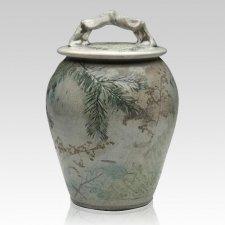 Forest Crackle Companion Cremation Urn
