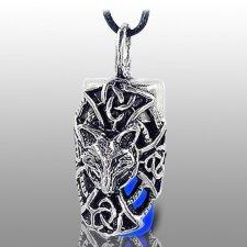 Dog Blue Cremation Necklace