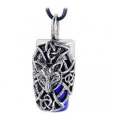 Fox Blue Cremation Necklace