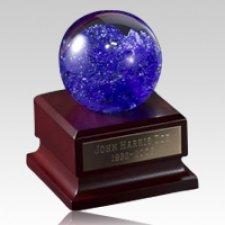 Distant Blue Galaxy Glass Keepsake