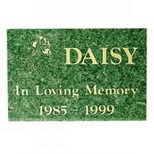 Green Granite Memorial Pet Grave Stone