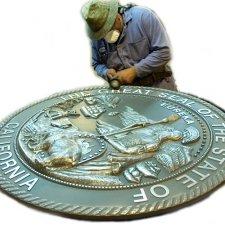 Bronze Plaque with Bronze Picture
