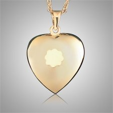 Heart with Flower Keepsake Jewelry