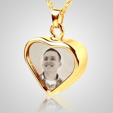 Heart Picture Cremation Pendant II