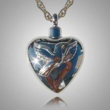Pet Dove Heart Cremation Pendant