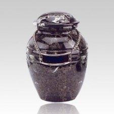 Black Marble Child Cremation Urn