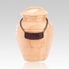 Teakwood Marble Child Cremation Urn