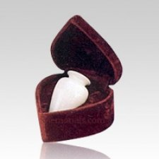 White Marble Infant Cremation Urn
